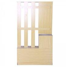 Móvel de entrada de cor de madeira com espelho...