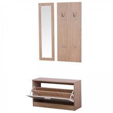 Móvel de entrada 3 peças de madeira - HOMCOM