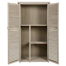 Armário exterior de madeira Outsunny