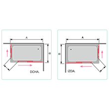Painel de duche angular 2 portas de correr preto transparente - KASSANDRA