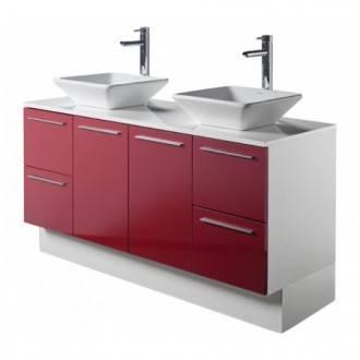 Móvel de casa de banho TWIN PLUS vermelho - Unisan Sanindusa