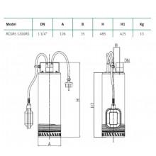 Bomba de água submergível ACUA5 1220AS Espa