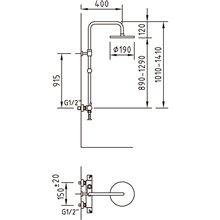 Coluna de duche termostática Caiman - CLEVER