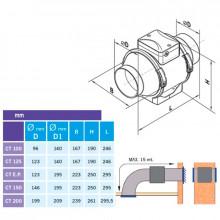 Extrator tubular CONDUCT TURBO Ø-100 standard...
