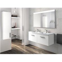 Móvel com lavatório e duas gavetas branco Prisma Roca