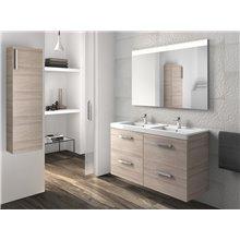 Conjunto de móvel com lavatório e quatro gavetas fresno Prisma Roca
