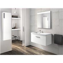 Móvel com lavatório e uma gaveta branco Prisma Roca