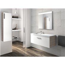 Conjunto de móvel com lavatório e uma gaveta branco-fresno Prisma Roca