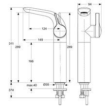 Torneira monocomando para lavatório 289 Melange Ideal Standard