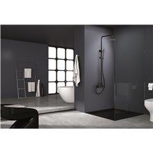 Coluna de duche preto ouro rosa Milos - IMEX