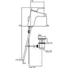 Torneira monocomando 5L para lavatório Active Ideal Standard