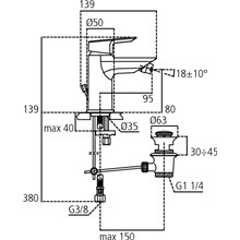 Torneira monocomando para bidé 5L Ceramix-Tesi Ideal Standard