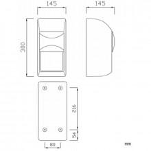 Porta rolos duplo vertical plástico ABS - NOFER