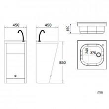 Lavatório eletrónico aço - NOFER