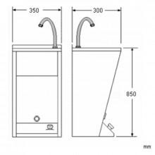 Lavatório mini aço - NOFER