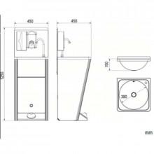 Lavatório portátil aço - NOFER
