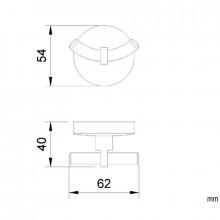 Cabide duplo Monaco cromado - NOFER