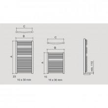 Toalheiro radiador hidráulico CUENCA SALGAR