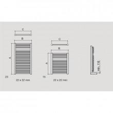 Toalheiro radiador hidráulico ALCOY SALGAR