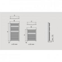 Toalheiro radiador hidráulico REQUENA SALGAR