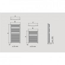 Toalheiro radiador elétrico REQUENA SALGAR