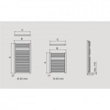 Toalheiro radiador hidráulico MENORCA SALGAR