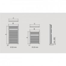 Toalheiro radiador elétrico MENORCA SALGAR