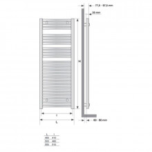 Toalheiro radiador Mithos Omicron 116 STILLÖ