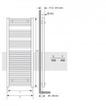 Toalheiro radiador Mithos Omicron Electric 75...