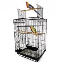 Jaula para pássaros com teto convertível - PAWHUT