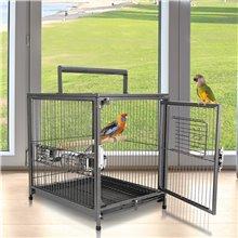 Jaula para pássaros ideal para viagens - PAWHUT