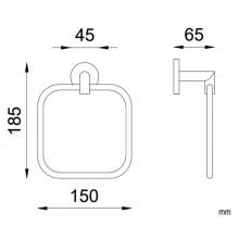 Toalheiro de aro Line - NOFER