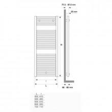 Toalheiro radiador Mithos Gamma 116 STILLÖ