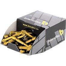 Conjunto de 50 pontas titânio 3x50 mm - BIANDITZ