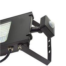 Projetor LED quadrado 50W com sensor Preto - MasterLed