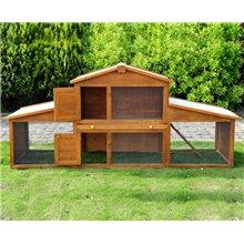 Coelheira de exterior grande de madeira - PAWHUT