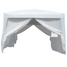 Tenda coreto transportável branca Outsunny