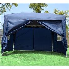 Tenda coreto transportável azul Outsunny