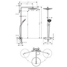Coluna de duche Raindance Select S 2 jatos 300 Hansgrohe