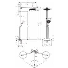 Coluna de duche 2 jatos Raindance Select S 240 Hansgrohe