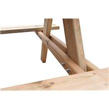 Mesa de madeira picnic 177x151x77 cm - GARDIUN
