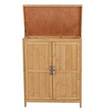 Armário exterior de madeira com portas Outsunny