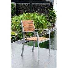 Conjunto de 4 cadeiras cinzento claro KLAUS -...