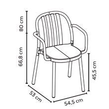 Conjunto de 2 cadeiras brancas LAMA - RESOL