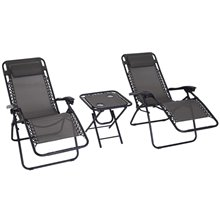 Conjunto de cadeiras e mesa de 9 peças Outsunny