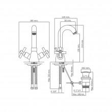 Torneira monoblock para lavatório com cano alto CALA - Griferías MR