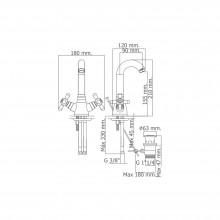 Torneira monoblock para lavatório com cano alto níquel PINTA - Griferías MR