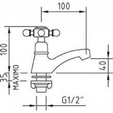 Torneira simples lavatório With2 ANTIGONA - CLEVER