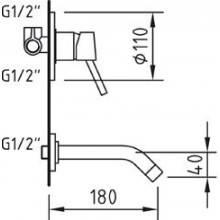 Torneira de lavatório de encastrar CAIMAN - CLEVER