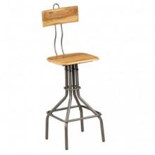 vidaXL Cadeiras de bar 2 pcs madeira teca...